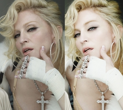 Madonna-Before-After-Photoshop