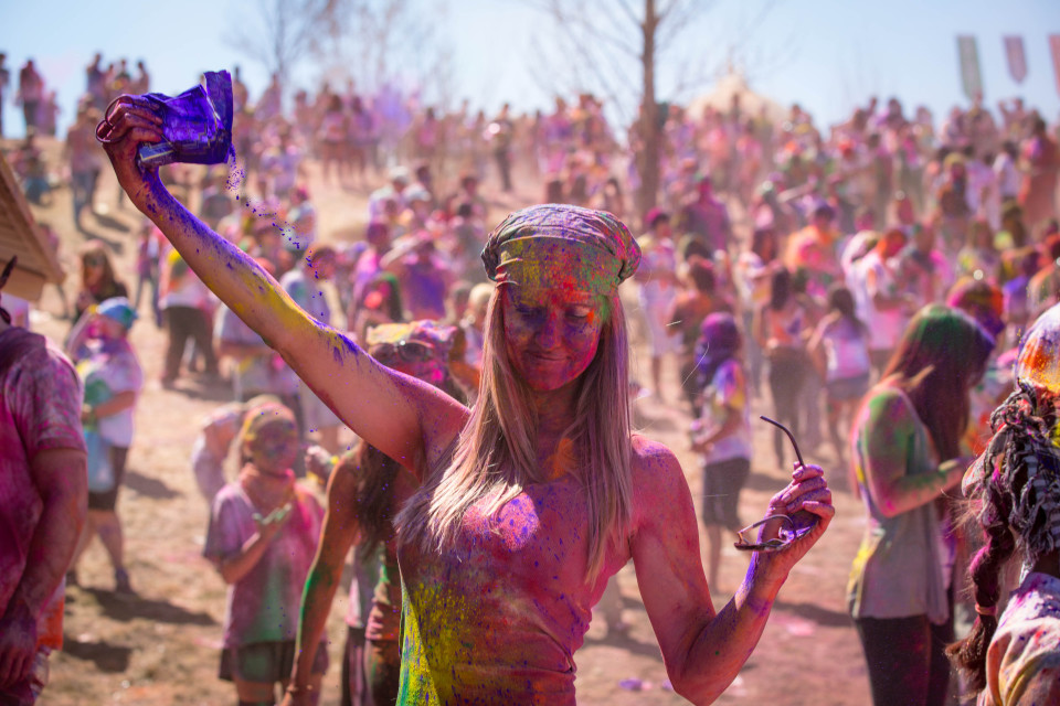Picture is from the Holi / Festival of Colors 2013 at the Sri Sri Radha Krishna Temple in Spanish Fork, Utah.
