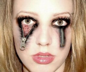 zipper-eyes-haloween-makeup-sexy-scary
